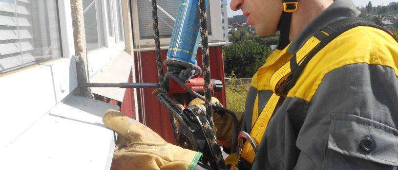 Что такое герметизация швов промышленными альпинистами?